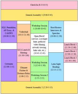 Fall Forum Schedule 2015