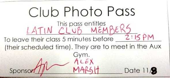 Latin Club Photo Pass